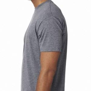 bulk custom shirts next level 6010 custom triblend crew 4.3 oz t shirt premium heather side
