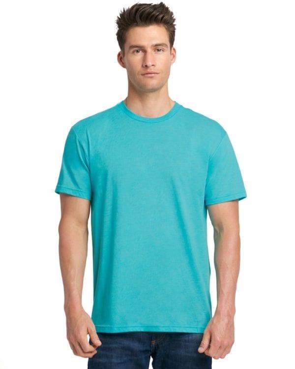 bulk custom shirts next level 6010 custom triblend crew 4.3 oz t shirt tahiti blue