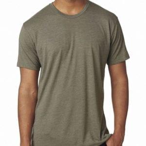 bulk custom shirts next level 6010 custom triblend crew 4.3 oz t shirt venetian gray