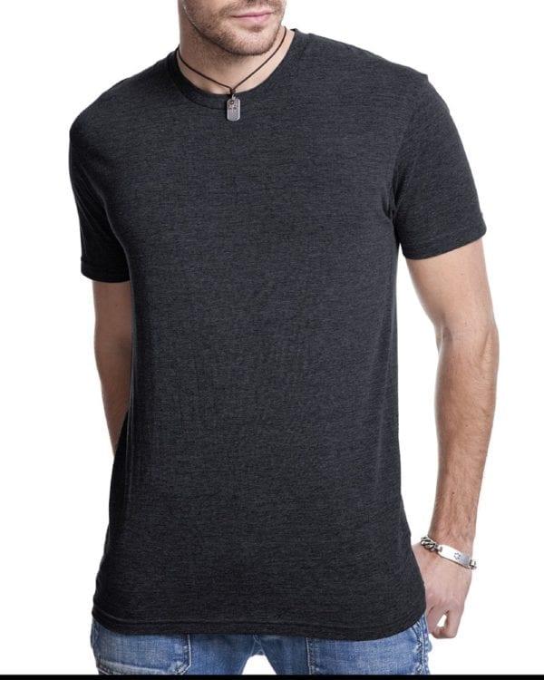bulk custom shirts next level 6010 custom triblend crew 4.3 oz t shirt vintage black