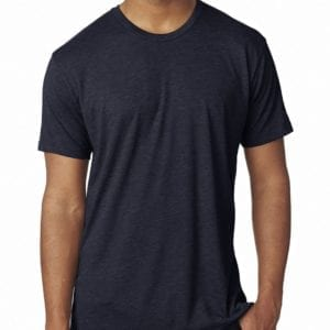 19cfc5e5 bulk custom shirts next level 6010 custom triblend crew 4.3 oz t shirt  vintage navy