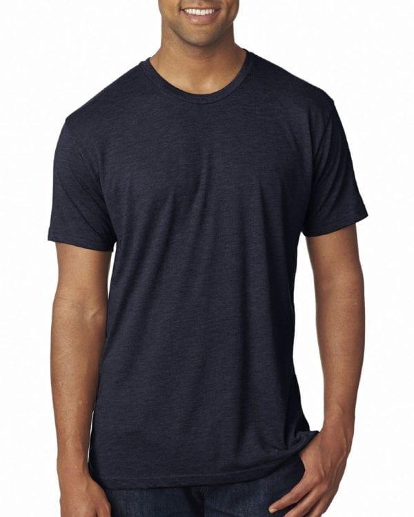bulk custom shirts next level 6010 custom triblend crew 4.3 oz t shirt vintage navy