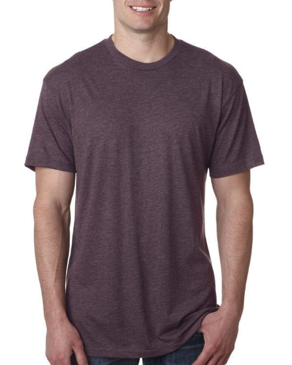 bulk custom shirts next level 6010 custom triblend crew 4.3 oz t shirt vintage purple