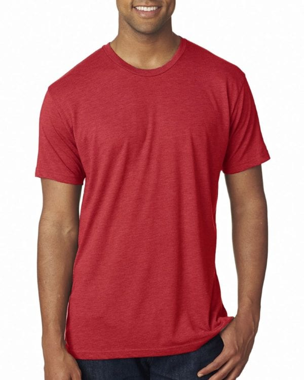 bulk custom shirts next level 6010 custom triblend crew 4.3 oz t shirt vintage red