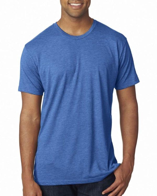 bulk custom shirts next level 6010 custom triblend crew 4.3 oz t shirt vintage royal
