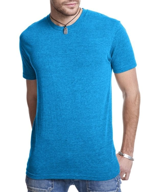 bulk custom shirts next level 6010 custom triblend crew 4.3 oz t shirt vintage turquoise