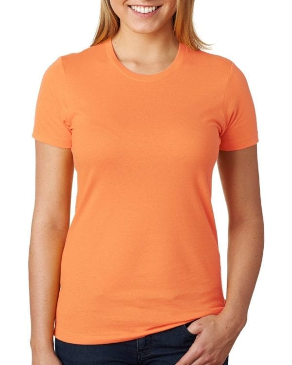 bulk custom shirts next level n3900 ladies boyfriend personalized wholesale comfortable shirt classic orange
