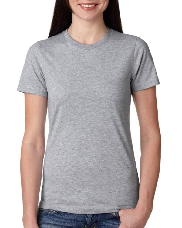 bulk custom shirts next level n3900 ladies boyfriend personalized wholesale comfortable shirt heather gray