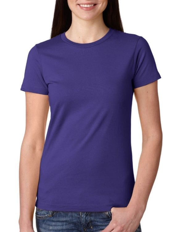 bulk custom shirts next level n3900 ladies boyfriend personalized wholesale comfortable shirt purple rush