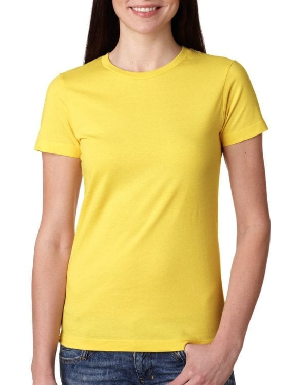 bulk custom shirts next level n3900 ladies boyfriend personalized wholesale comfortable shirt vibrant yellow