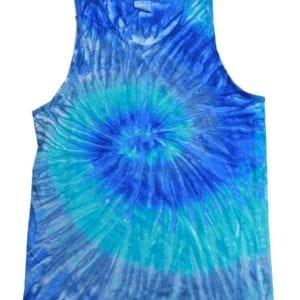 bulk custom shirts tie-die cd3500 100% cotton wholesale custom tank top blue jerry