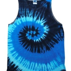 bulk custom shirts tie-die cd3500 100% cotton wholesale custom tank top blue ocean