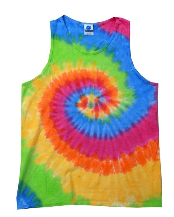 bulk custom shirts tie-die cd3500 100% cotton wholesale custom tank top moondance