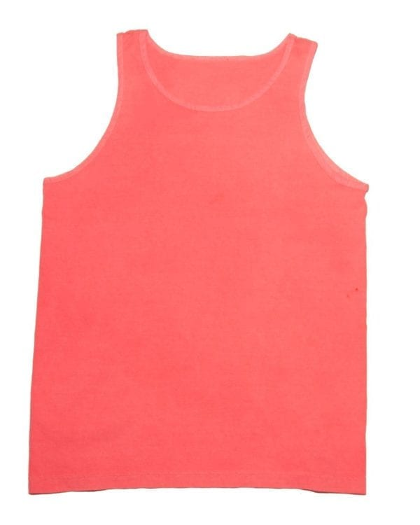 bulk custom shirts tie-die cd3500 100% cotton wholesale custom tank top neon coral