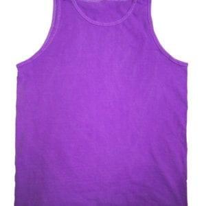 bulk custom shirts tie-die cd3500 100% cotton wholesale custom tank top neon purple