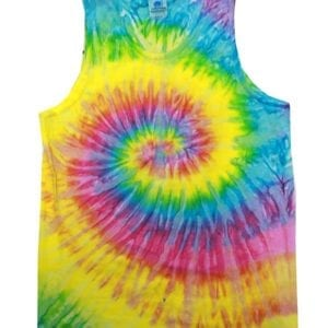 bulk custom shirts tie-die cd3500 100% cotton wholesale custom tank top saturn