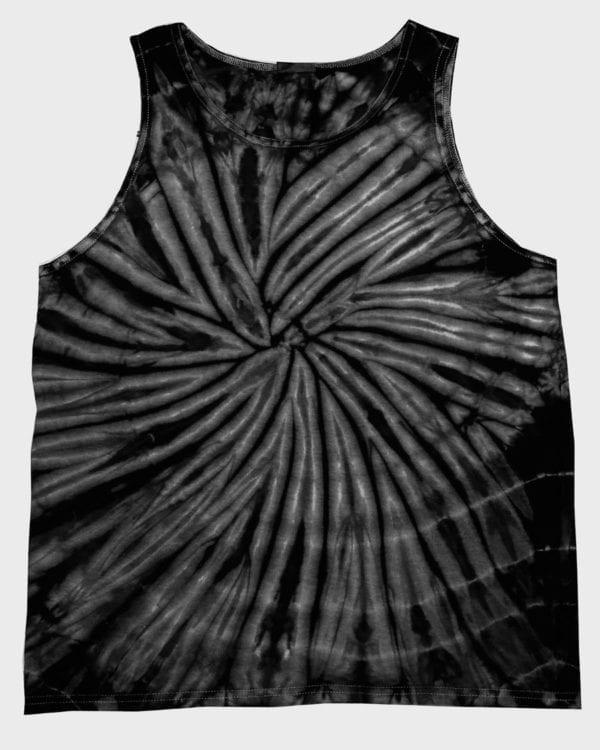bulk custom shirts tie-die cd3500 100% cotton wholesale custom tank top spider black