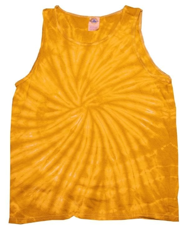 bulk custom shirts tie-die cd3500 100% cotton wholesale custom tank top spider gold