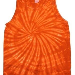 bulk custom shirts tie-die cd3500 100% cotton wholesale custom tank top spider orange