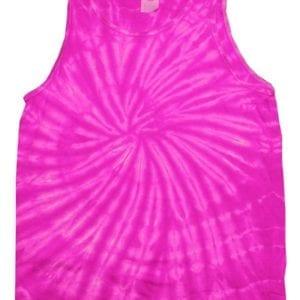 bulk custom shirts tie-die cd3500 100% cotton wholesale custom tank top spider pink