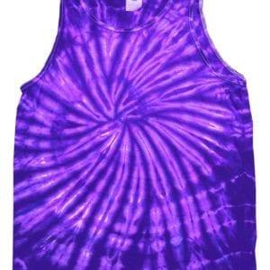 bulk custom shirts tie-die cd3500 100% cotton wholesale custom tank top spider purple