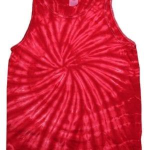 bulk custom shirts tie-die cd3500 100% cotton wholesale custom tank top spider red