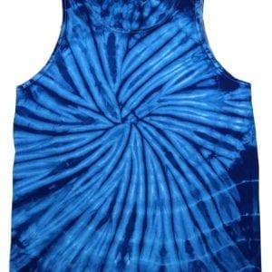bulk custom shirts tie-die cd3500 100% cotton wholesale custom tank top spider royal