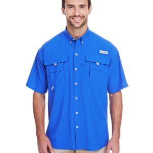 columbia bahama ii 7047 vivid blue custom polos bulk custom shirts vivid blue 1