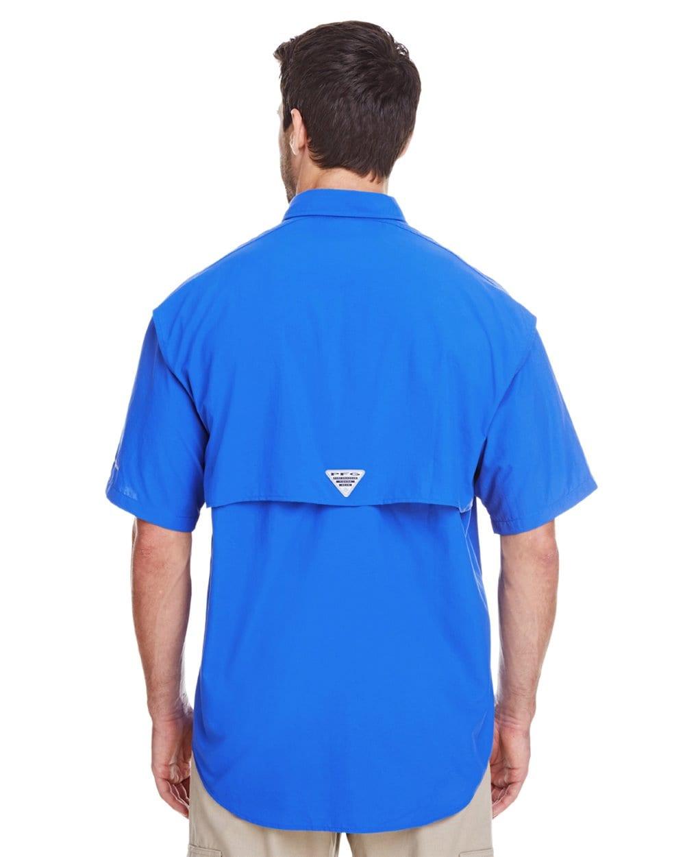 ba6f19bcb columbia bahama ii 7047 vivid blue custom polos bulk custom shirts vivid  blue 1 back