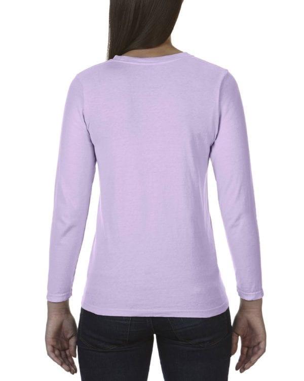 comfort color c3014 custom long sleeve shirt bulk custom shirts orchid back