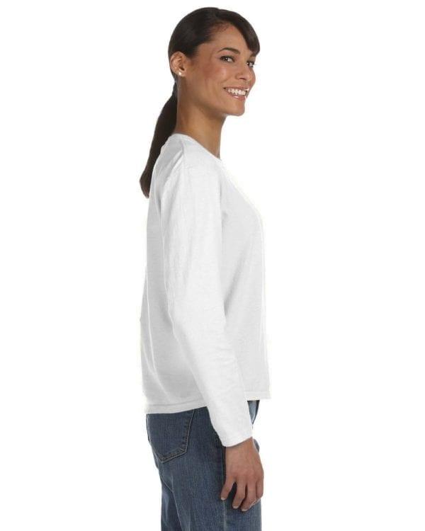 comfort color c3014 custom long sleeve shirt bulk custom shirts white side