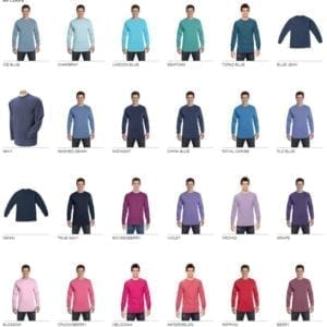 comfort color c6014 heavyweight long sleeve shirt colors pg1