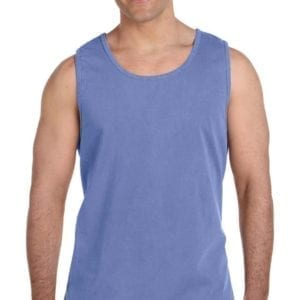 comfort colors c9360 tank tops flo blue