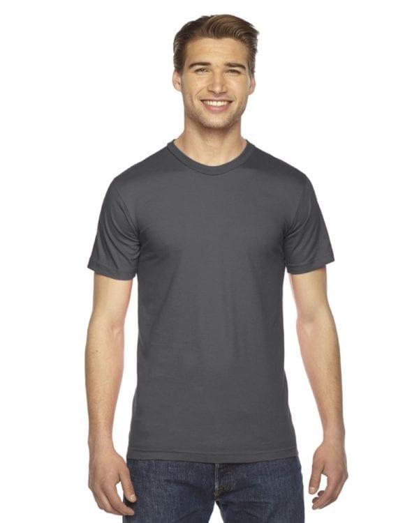 custom american apparel 2001w custom jersey short sleeve shirt asphalt