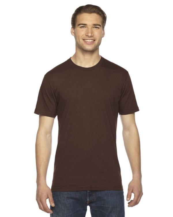 custom american apparel 2001w custom jersey short sleeve shirt brown
