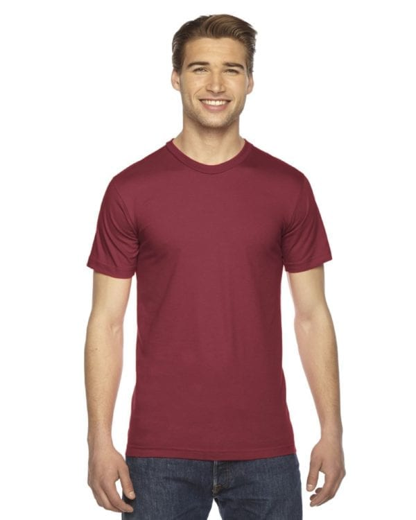 custom american apparel 2001w custom jersey short sleeve shirt cranberry