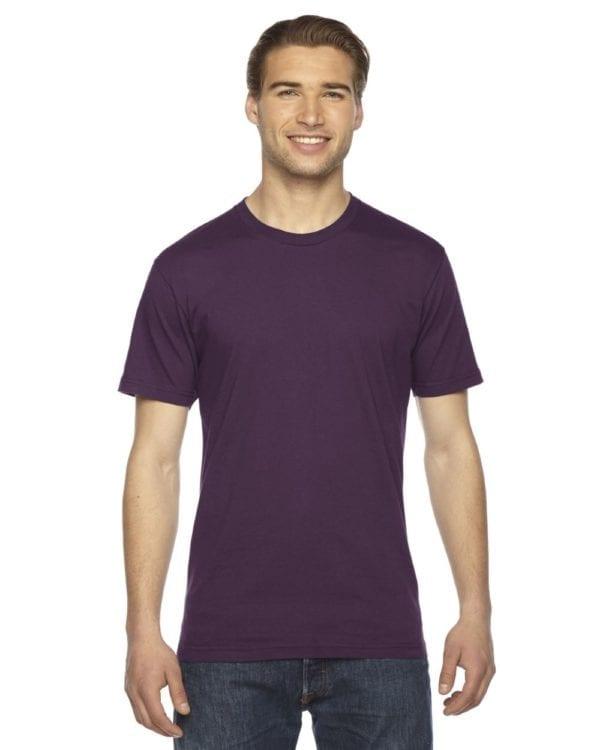 custom american apparel 2001w custom jersey short sleeve shirt eggplant