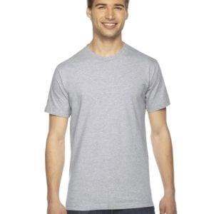 custom american apparel 2001w custom jersey short sleeve shirt heather grey