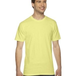 custom american apparel 2001w custom jersey short sleeve shirt lemon