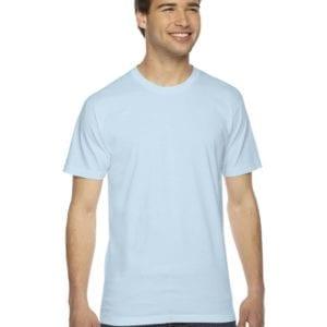 custom american apparel 2001w custom jersey short sleeve shirt light aqua