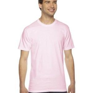 custom american apparel 2001w custom jersey short sleeve shirt light pink