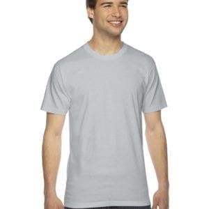 custom american apparel 2001w custom jersey short sleeve shirt new silver