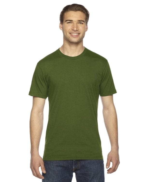 custom american apparel 2001w custom jersey short sleeve shirt olive