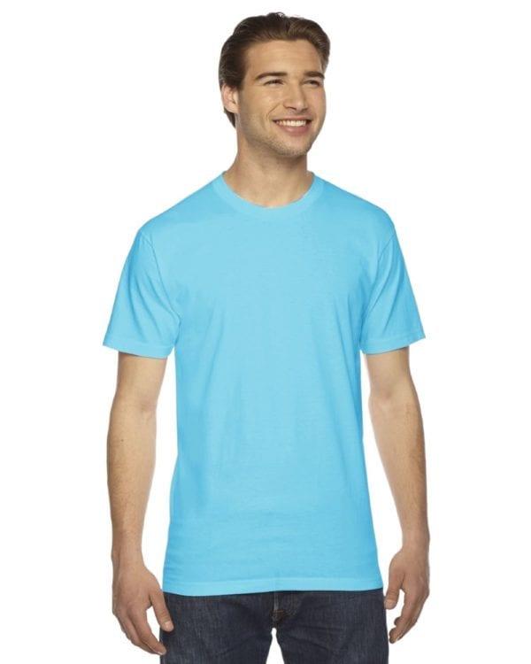custom american apparel 2001w custom jersey short sleeve shirt turquoise
