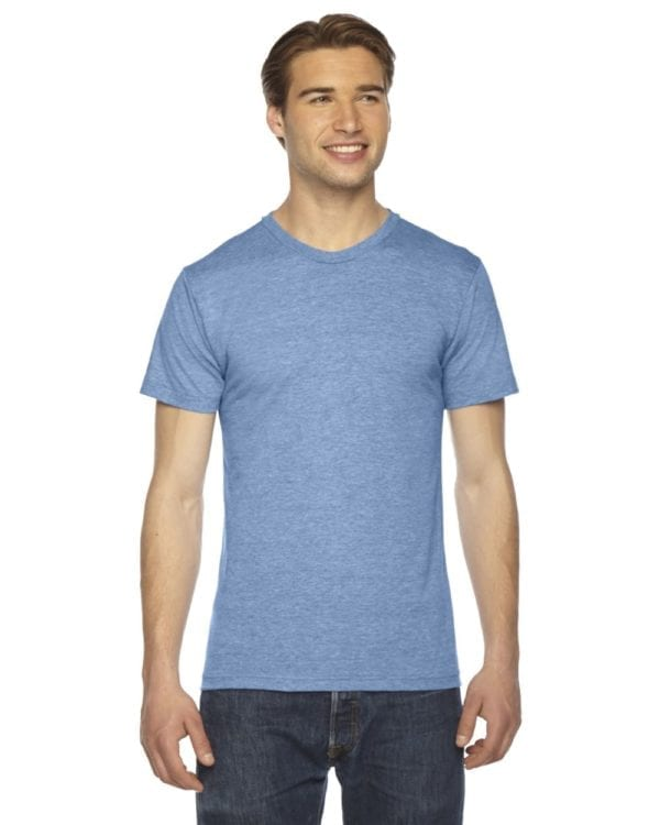 custom american apparel triblend custom shirt tr401w athletic blue