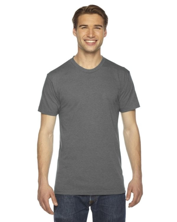 custom american apparel triblend custom shirt tr401w athletic grey