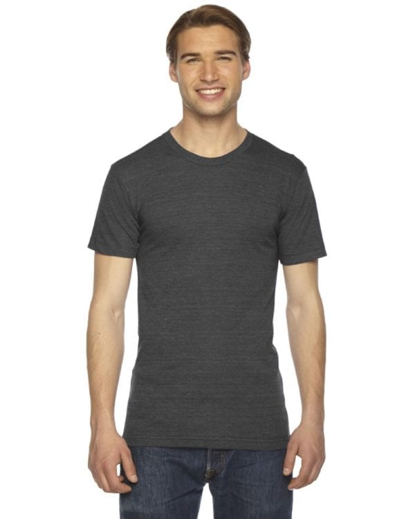 custom american apparel triblend custom shirt tr401w tri black