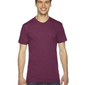 custom american apparel triblend custom shirt tr401w tri cranberry