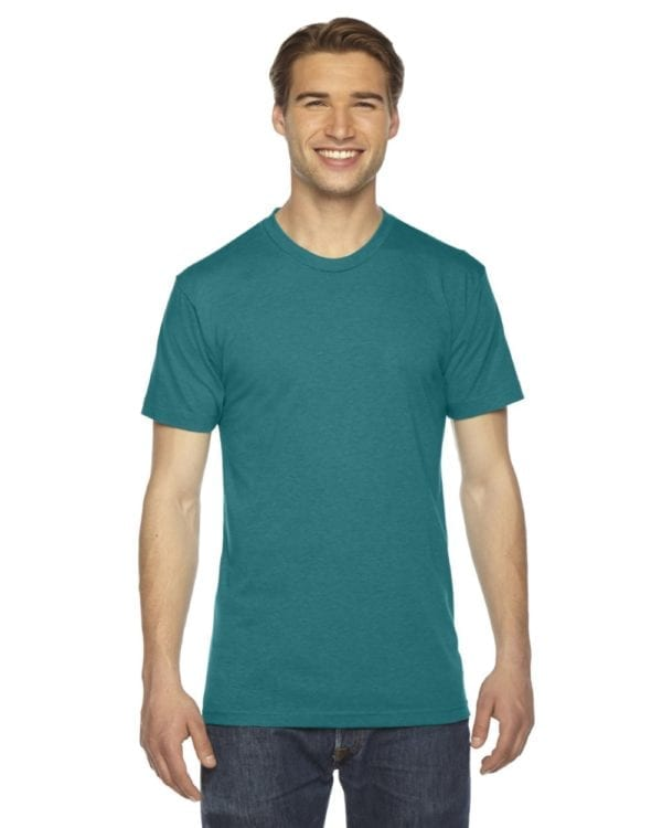custom american apparel triblend custom shirt tr401w tri evergreen