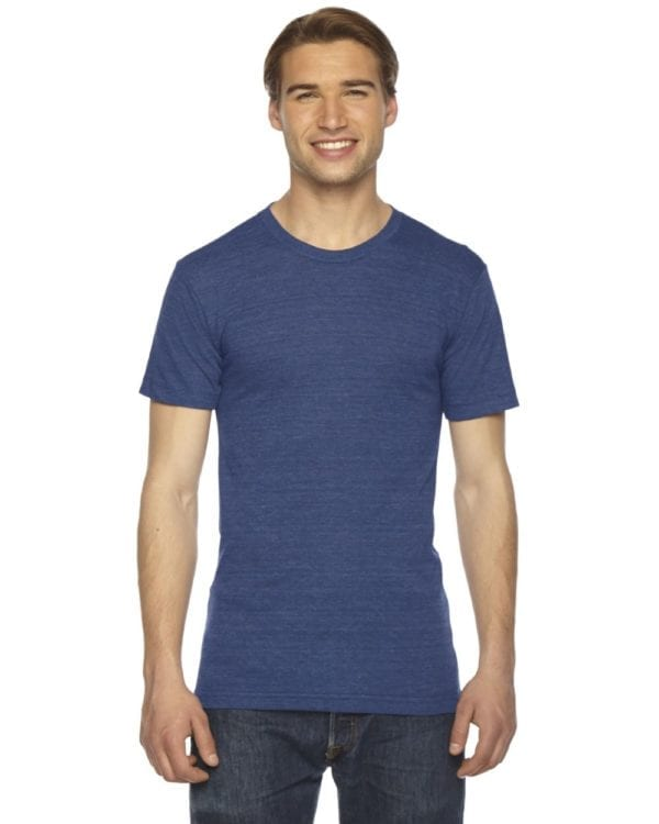 custom american apparel triblend custom shirt tr401w tri indigo